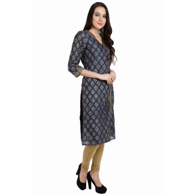Designer Kurti Online- Get Latest Navy Blue Kurthi Design at Shoppyzip