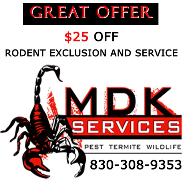 Mdk $25 off Rodent Exclusion and Service
