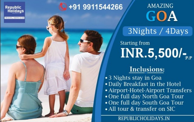 Goa Packages - Book Goa Holiday Packages at  republicholidays.in