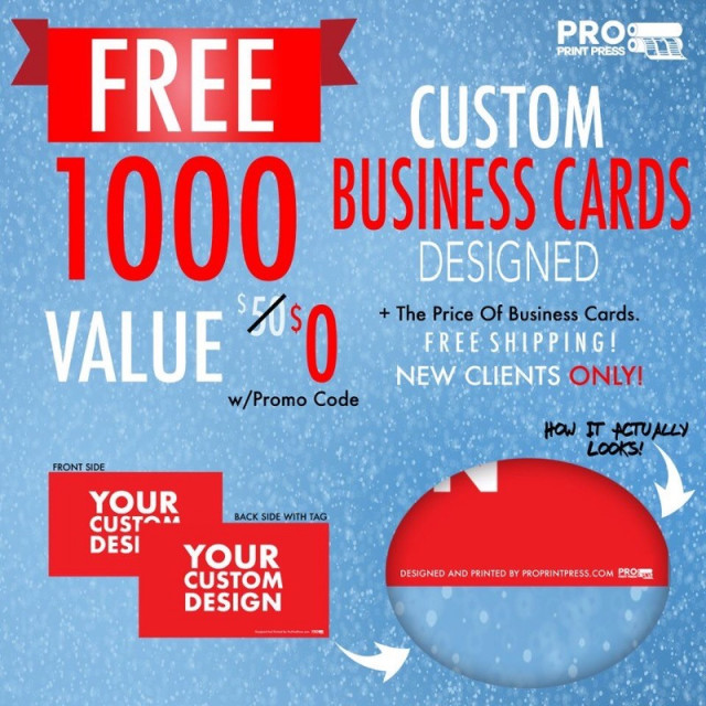Get 1000 Free Business Cards Designed + Free Shipping use promo code: VACE1