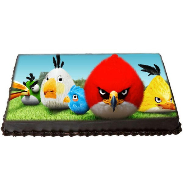 Exciting Angry Birds Cake