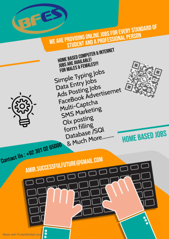 First time online real jobs are available for ever person in Pakistan