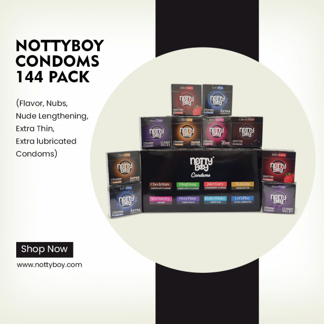 NottyBoy Assorted Bulk Variety Pack of 144 Condoms