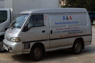 A & A REMOVAL AND DELIVERY SERVICES VAN
