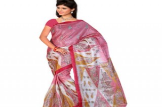 Buy Georgette Saree With Banglori Silk Blouse in Beige- High Trend Mart