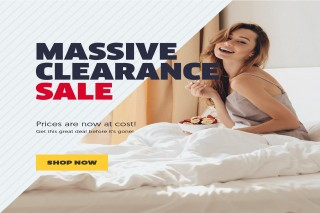 Massive Clearance Sale at Bedding Stock!