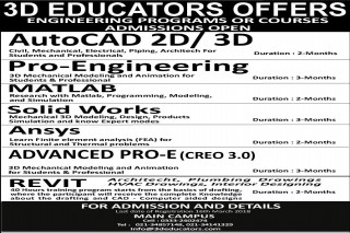 3D EDUCATORS is offering Engineering Courses....