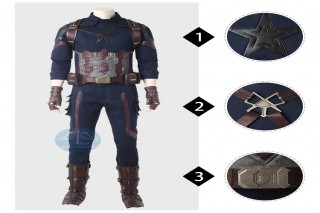 Infinity War Captain America cosplay costume