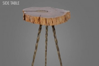 Stylish Molten Wood End Table at Aglow Exports Inc.