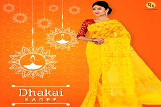 Buy best quality Dhakai sarees online from Banarasi Niketan