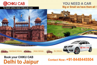 Book Delhi to Jaipur Cabs at lowest price from CHIKUCAB