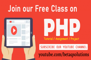Subscribe for FREE PHP Tutorials, Assignment & Live Projects