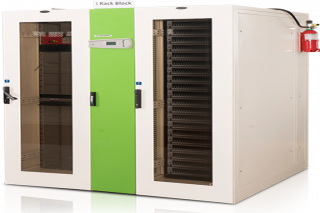Air conditioned server rack