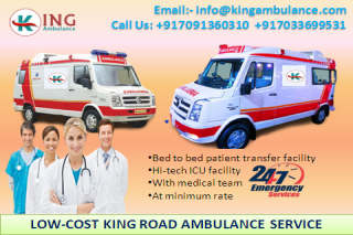 Shift Patient by King Road Ambulance Service in Gaya